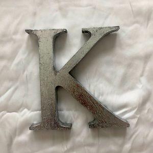 """Home decor letter """"K"""""""